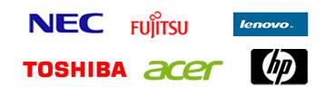 fujitsu,NEC,HP,Lenovo,TOSHIBA,ACER
